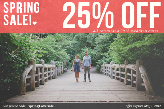 Get 25% OFF All Remaining 2012 Wedding Dates from Lev Kuperman Photography