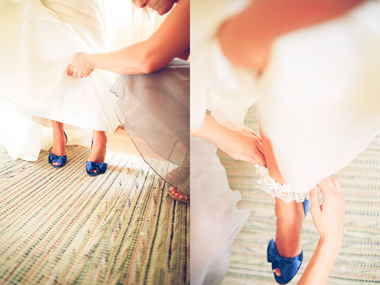 blue wedding shoes, twin peaks ranch, ojai, john schnack photography, los angeles wedding photographer, film photographer