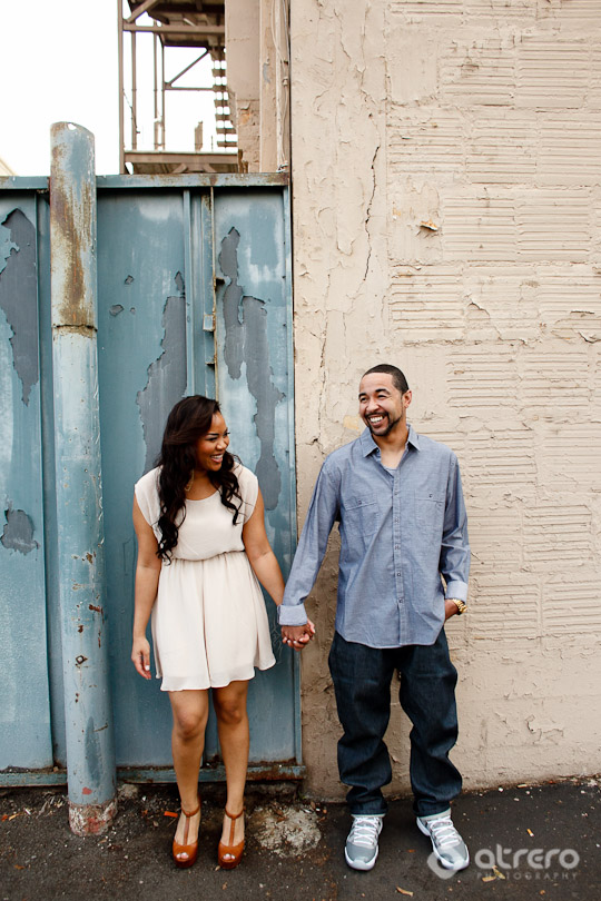 downtown san diego engagement session