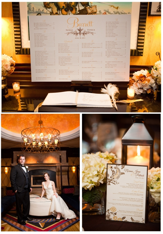 Vintage Flower Wedding Seating Chart