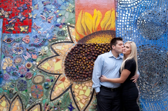 Colorful and Contemporary Chicago Engagement