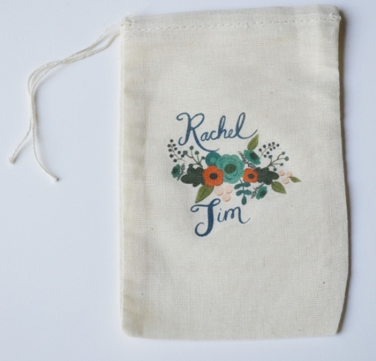 Custom Wedding Favor bags from Loft Life Press