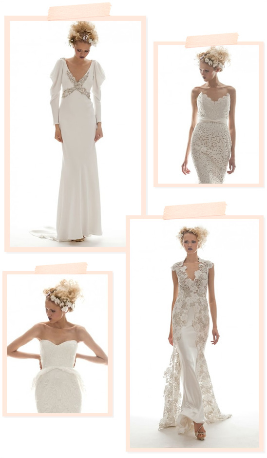 Elizabeth Fillmore Spring 2013 Bridal Collection