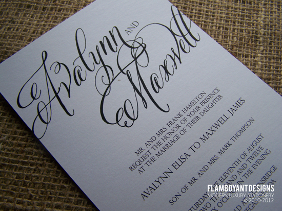 Calligraphy For Wedding Invitations is an amazing ideas you had to choose for invitation design