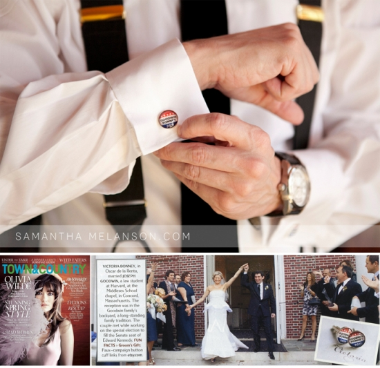 Custom Cufflinks - As seen in Town & Country Magazine!