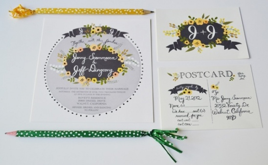 Grey and Yellow Palette Custom Invite Suite