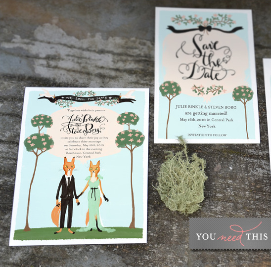Animal Wedding Invitations
