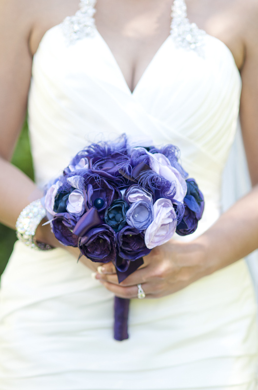 Purple and Navy Wedding