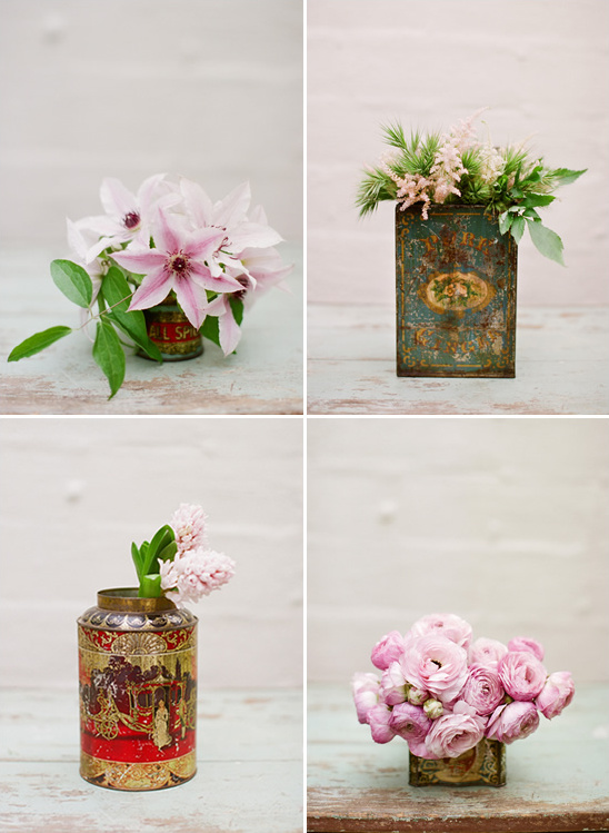 Tin Can Floral Arrangements