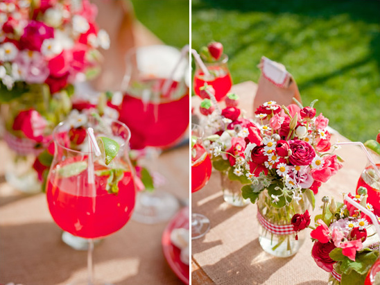 Strawberry Garden Bridal Shower Ideas