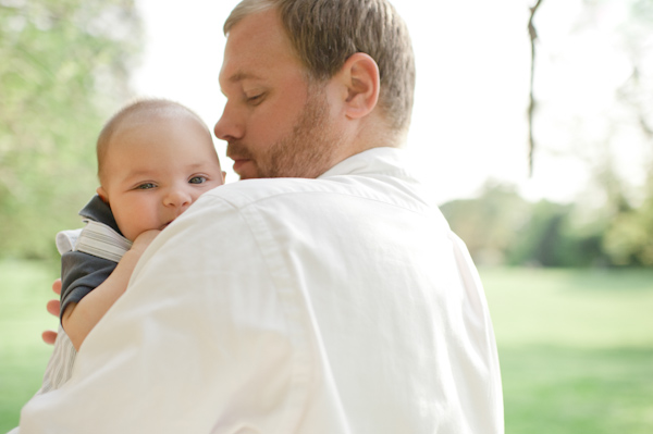 Baby at engagement session