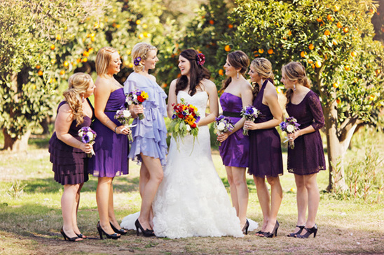 A DIY Purple Rustic Wedding