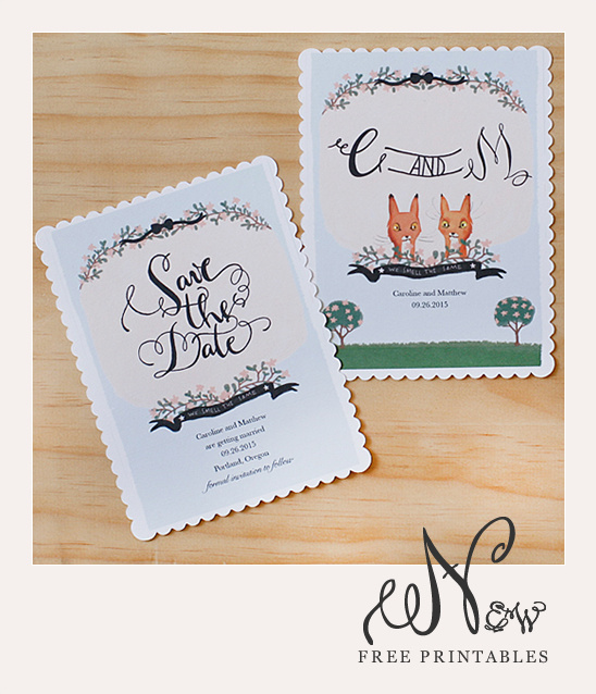 Nifty image within save the date printable