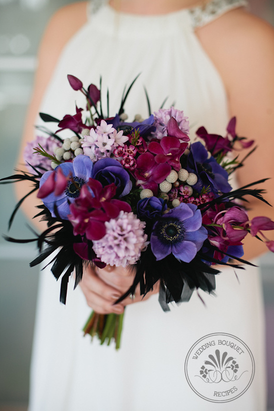 Purple and Lavender Wedding Bouquet