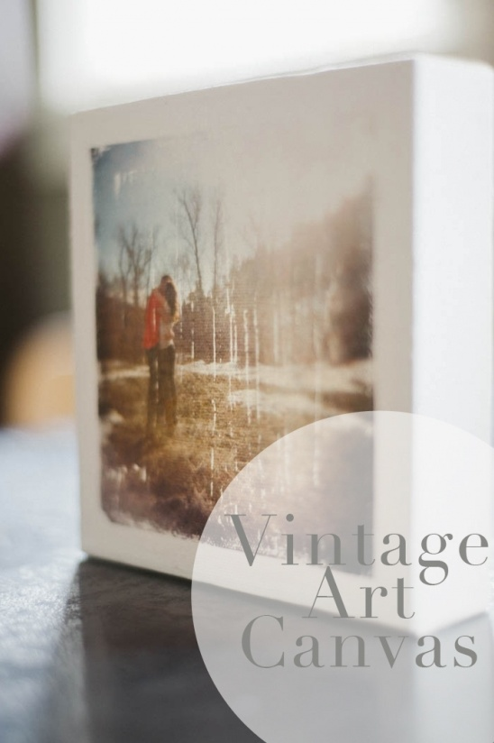 Learn to make a vintage canvas