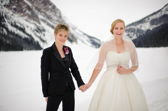 Destination Winter Wedding at Fairmont Chateau Lake Louise in Canada