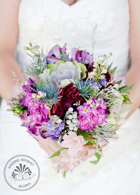 spring wildflower wedding bouquet