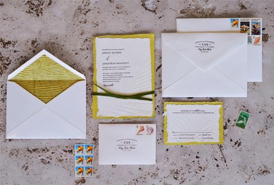 Sophisticated Beach Wedding Invitations
