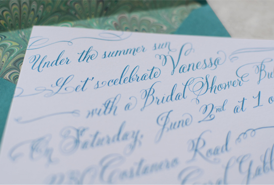 Bridal Shower Invitation detail