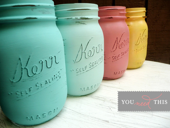 You Need This | Shabby Chic Mason Jars