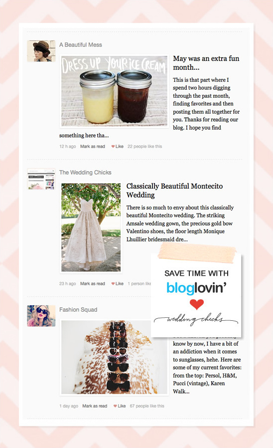 Follow Wedding Chicks On Bloglovin