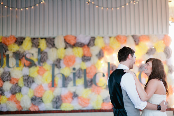 Wedding Day Pom Pom Wall