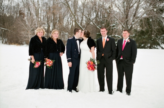 Winter Military Wedding by Amy Rae Photography
