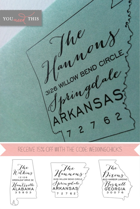 You Need This | Personalized State Rubber Stamps