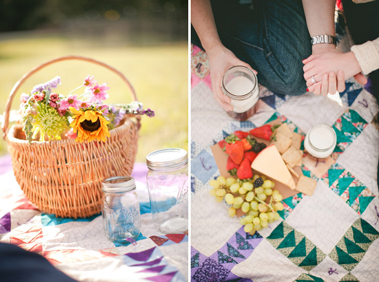 Picnic Themed Engagement Session