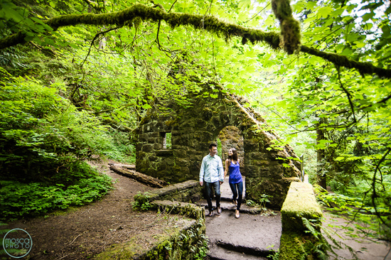 Forest Trails and High Heels in this Portland Engagement Session