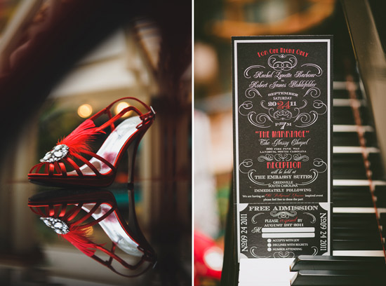 Shoes and Invitation