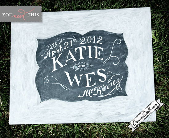 You Need This | Custom Chalkboard Wedding Sign