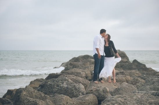 Nevada and Sam's Beach Engagement Shoot