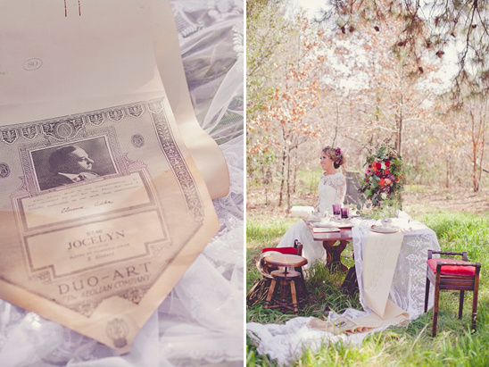 Vintage Musical Wedding Ideas