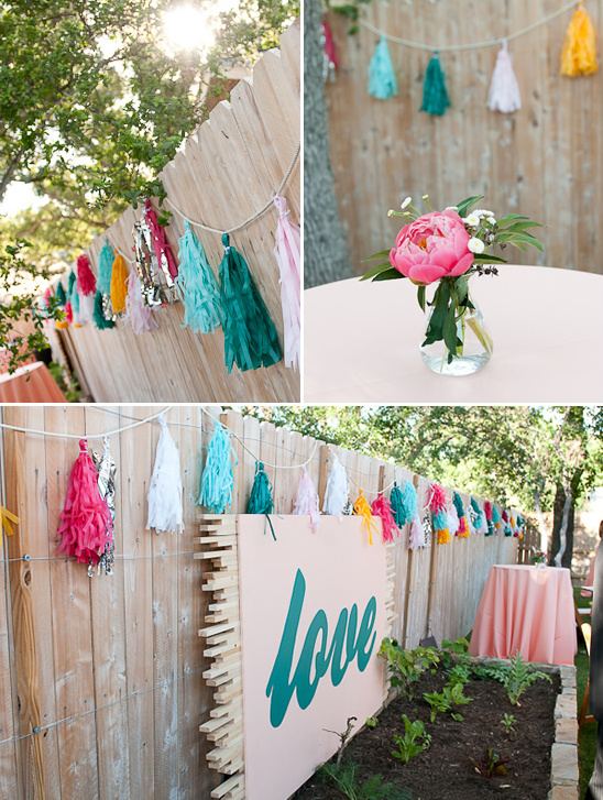 Unique And Artsy Backyard Wedding