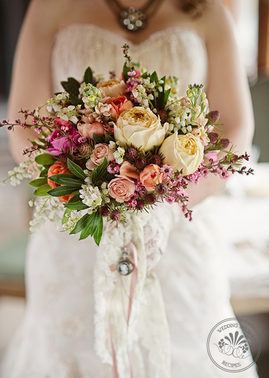 Pink, Peach And Orange Bouquet