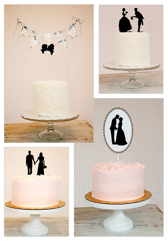 Custom Silhouette Wedding Cake Topper