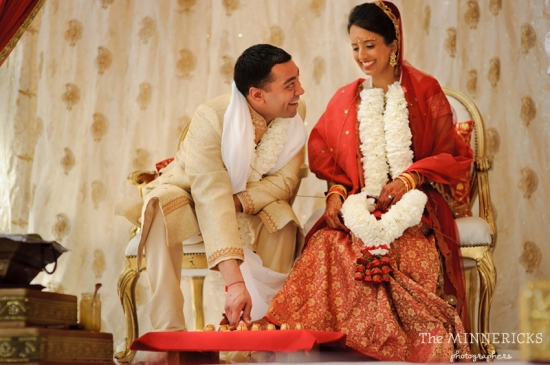 Vibrant Orange, Red and Gold Indian Wedding in Dallas