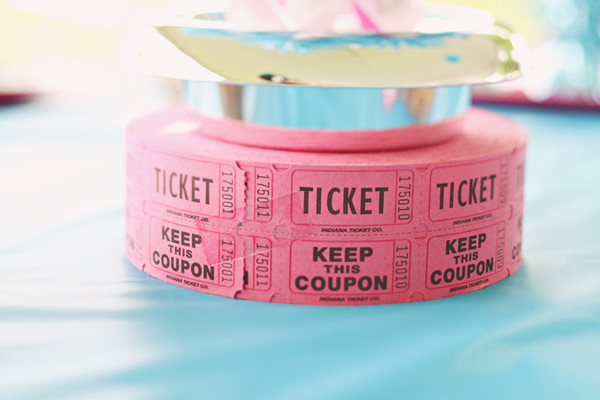 Pink And Blue Carnival Inspired Wedding