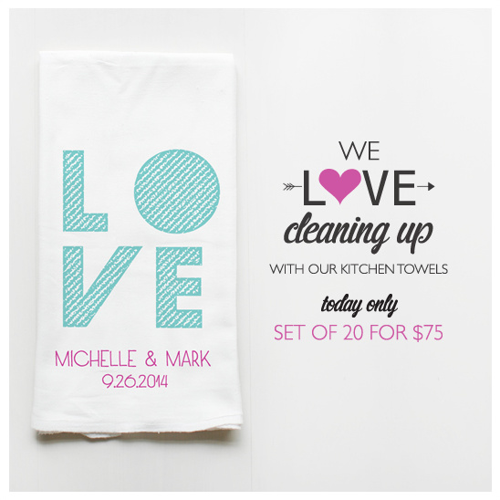 Custom Kitchen Towels From Wedding Chicks