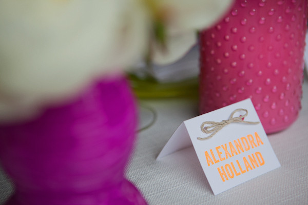 Hot Pink And Orange Neon Wedding Ideas