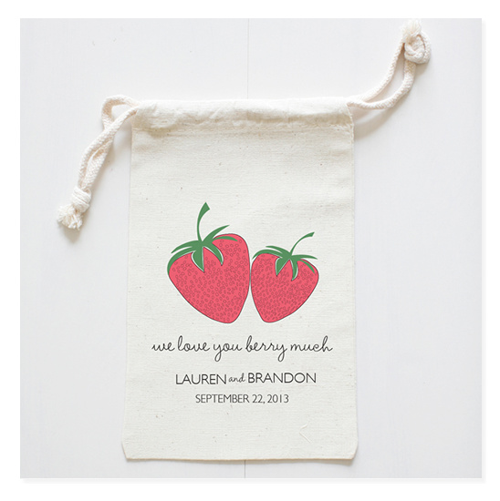 Strawberry Wedding Favor Bags On Sale Today