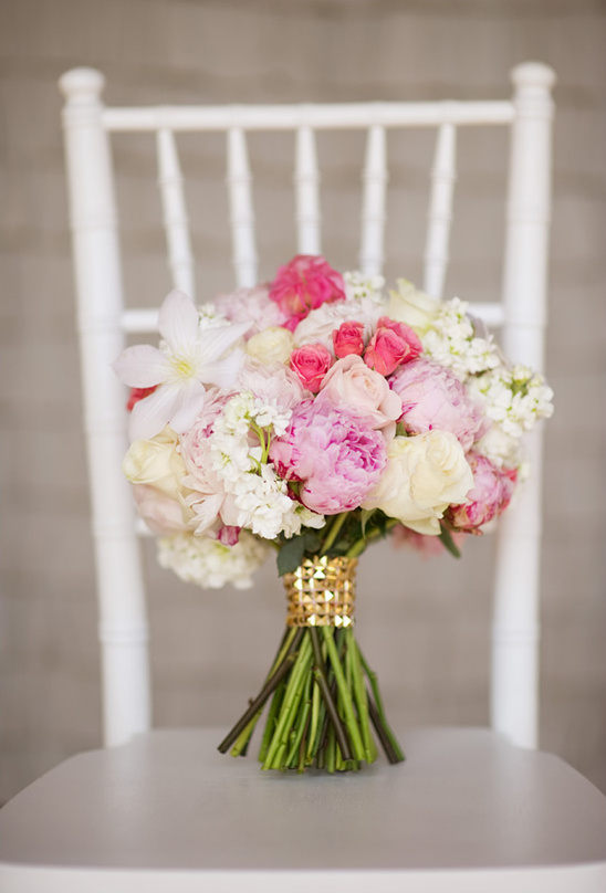 Bridal Bouquets Pink And White : Pink and white wedding bouquet