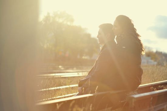 Engagement Photo in the sun light
