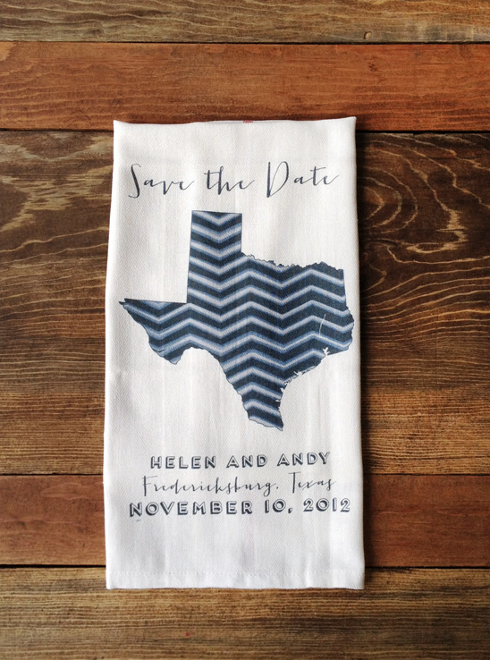 Save The Date State Towels On Sale