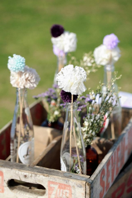Sweet Purple Farm Wedding on a Budget!