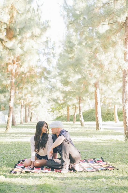 Barnsdall Art Park Engagement Shoot