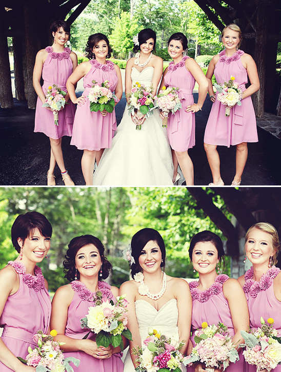 North Carolina Pink And Blue Vintage Wedding