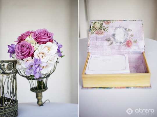 Lavendar and Sage colored La Jolla Wedding