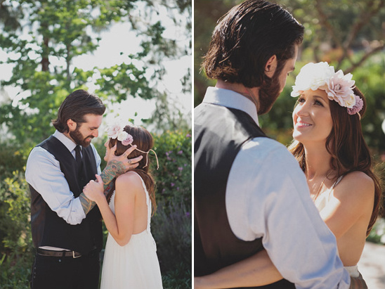 Woodsy Boho Chic Backyard Wedding